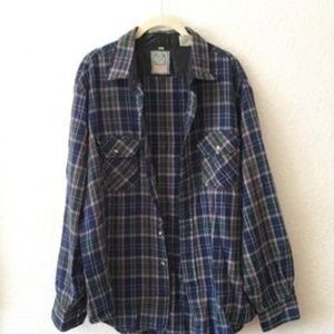 Blue Plaid Dress Shirt